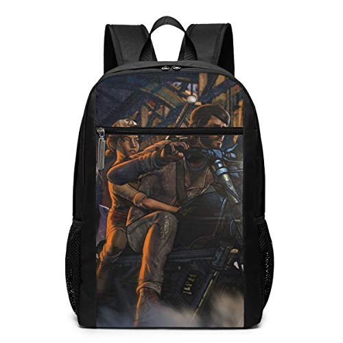 Qmad Women's The Walking Dead Bony Zomby Super Heavy And Heavy Attractive Full Printing Backpack For Schools