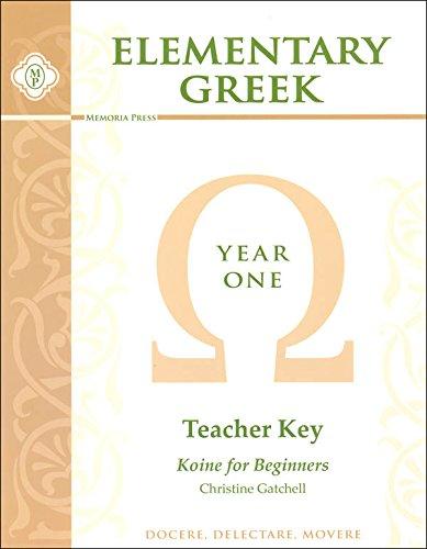Download Elementary Greek: Year 1 Teacher Key ebook