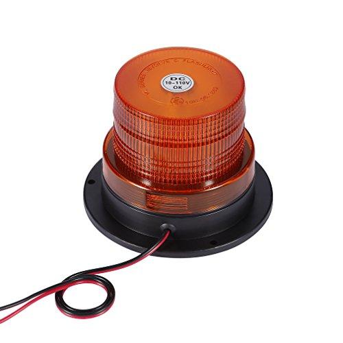 Price comparison product image YKS LED Amber Warning light, Waterproof 5730 20 LED Car Truck LED Emergency Strobe Light Magnetic Warning Beacon Lights Amber Color for Traffic