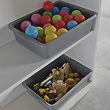 CadineUS 13 L Grey Plastic Tote Box Set of
