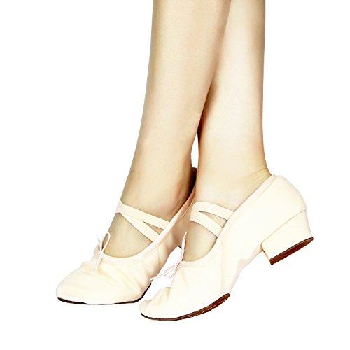 Danza Scarpe Bimba Scarpe con Morbido Signore Suola Ballerina Tela Danza Ballo delle Morbido Classica Le Tela per Scarpette Donna Ragazze Rosa Uomini da da qwYCUE