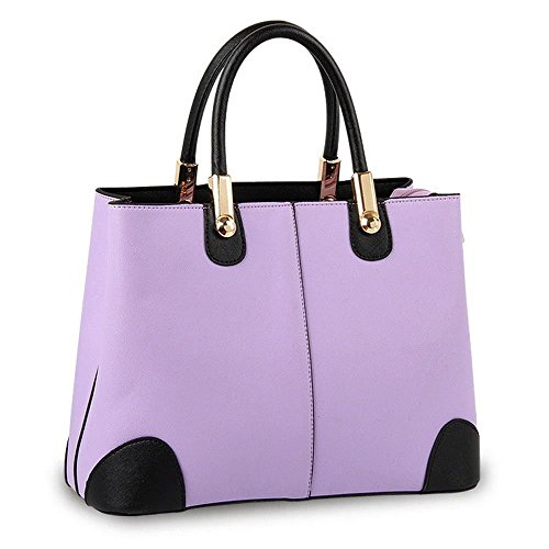 Ryse Womens Fashionable Metal Classic Mixed Color Exquisite Handbag Shoulder Bag(Purple) (Target Overnight Bag compare prices)