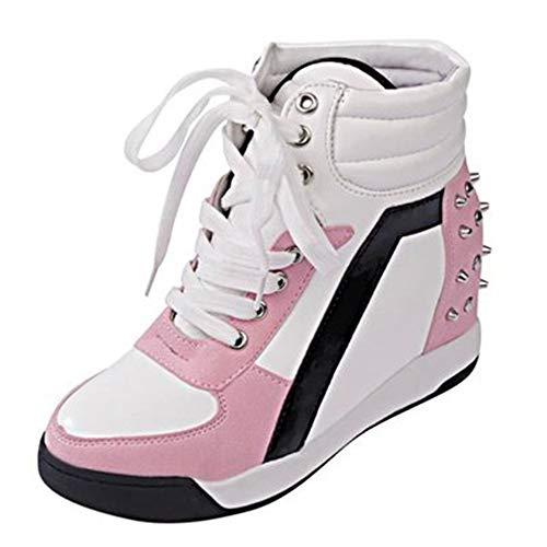 Deporte Zapatos Libre Con Altos Otoño Cuña Al De Aumento Luz Plataforma Invierno Cremallera Casuales Ysfu Transpirable Aire Zapatillas Botas Mujer Tacones Tobillo IqwY8qE1