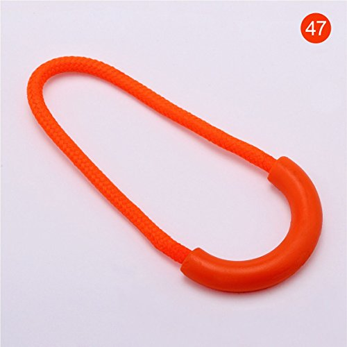 pper Pulls Pack of 100pcs Fixer for Backpacks and Jackets (U Orange) (Pull Multi Colored)