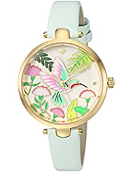 kate spade new york Womens Holland Quartz Stainless Steel and Leather Casual Watch, Color:Blue (Model: KSW1309)