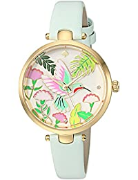 kate spade new york Women's 'Holland' Quartz Stainless Steel and Leather Casual Watch, Color:Blue