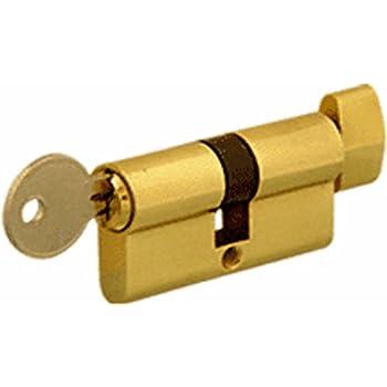 Andersen Storm Door Key Cylinder Lock In Brass Finish