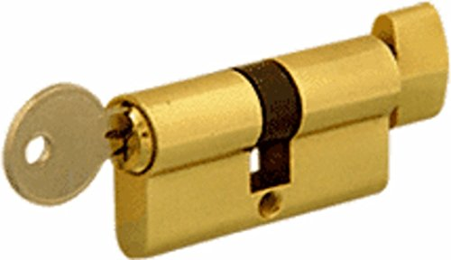 Polished Brass Euro Glass - C.R. Laurence Brass Keyed Alike Cylinder Lock with Thumbturn By HandsOnCo