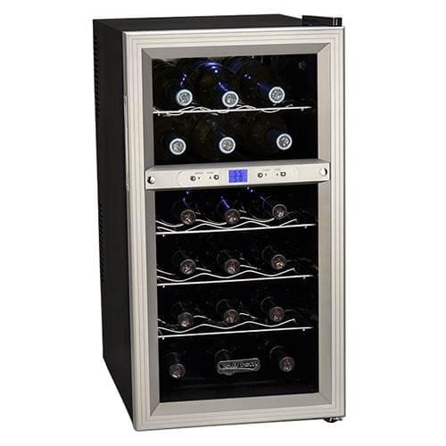 Koldfront TWR181ES 18 Bottle Dual Zone Freestanding Thermoelectric Wine Cooler by Koldfront
