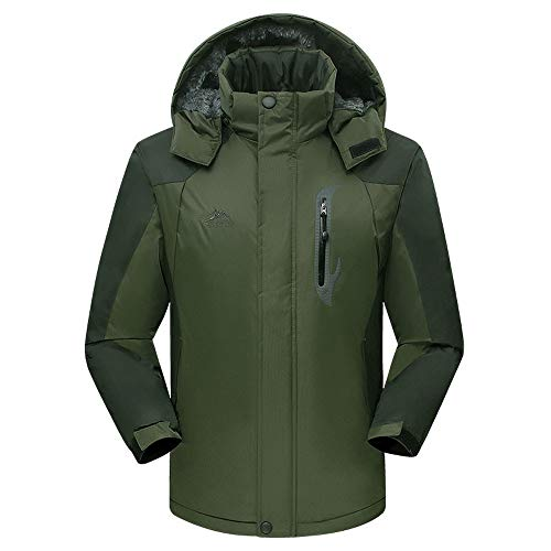 Swiss Army Insulated Vest - FarJing Men's Outwear Winter Casual Long Padded Velvet Outdoor Sports Coat(L,Army Green