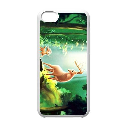 Bambi 024 coque iPhone 5c cellulaire cas coque de téléphone cas blanche couverture de téléphone portable EOKXLLNCD26337