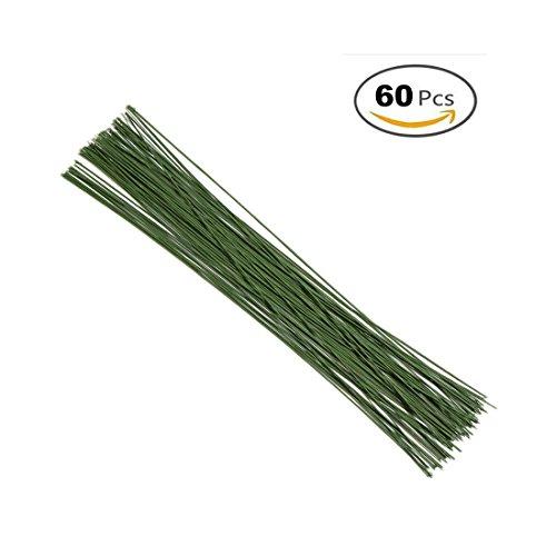 GEORLD 18 Gauge Dark Green DIY Floral Wire 16 (Floral Crown Diy)