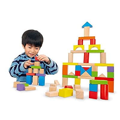 Imaginarium Wooden Block Set - 75-Piece: Toys & Games