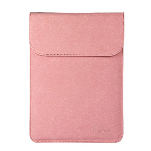Touch Pink Leather Sleeve (MacBook Pro 13 Case 2016,LAPOND Sleeve Case Cover[Classical Nubuck Leather] for Apple MacBook Pro 13