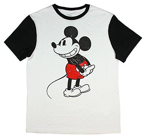 Disney Shirt Men Mickey Mouse Ringer