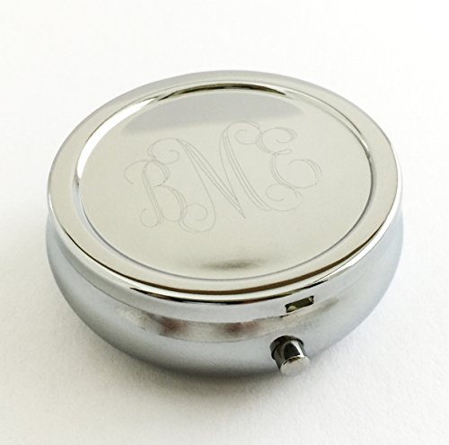 (Monogram Pill Box for Purse Engraved for Free 2