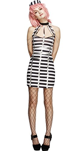 ZHLONG Ms. Stripes Hollow Inmates Fitted Uniforms Temptation Cosplay Sexy Lingerie , figure color , (Sexy Inmate Costumes)