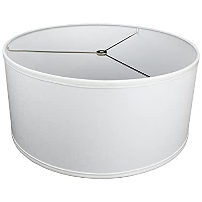 "FenchelShades.com 17"" Top Diameter x 17"" Bottom Diameter 8"" Height Cylinder Drum Lampshade USA Made"