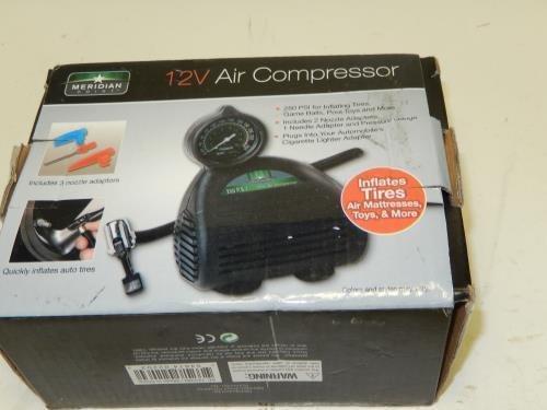 Meridian Point 12-Volt Air Compressor Pump (Black) Smart by Smart Works