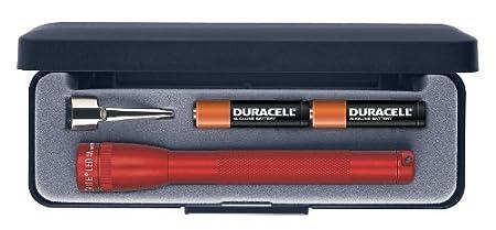 con 2 batterie AAA in confezione regalo colore: Rosso Mini torcia a LED Maglite