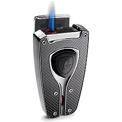 Tonino Lamborghini Forza Black Carbon Fiber Cigar Lighter