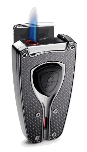 Tonino Lamborghini Forza Black Carbon Fiber Cigar Lighter by Tonino Lamborghini