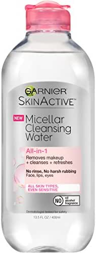 Garnier SkinActive Micellar Cleansing Water, For All Skin Types, 13.5 Fl Oz