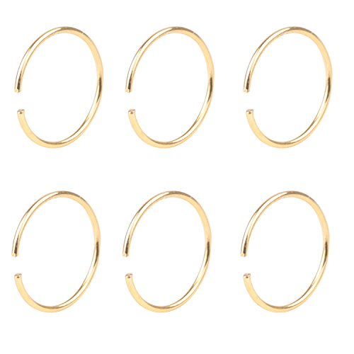 Yans 22G 6pcs Surgical Steel Body Jewelry Piercing Nose Ring Hoop Nose Piercing 10mm