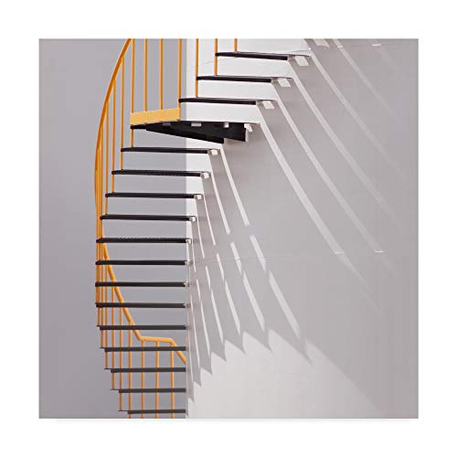Trademark Fine Art Yellow Staircase by Jacqueline Hammer, 24x24-Inch, ()