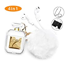 Airpods 1 Case,Fur Ball Keychain Shockproof Protective Case for Apple Airpods 1
