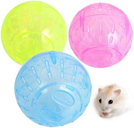 CYcaibang ペットの小さなおもちゃのハムスター実行ボール、ランダムな色配達、サイズ:直径:12センチメートル