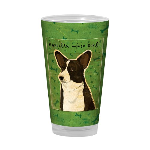 (Tree-Free Greetings PG03035 John W. Golden Artful Alehouse Pint Glass, 16-Ounce, Cardigan Welsh Corgi)