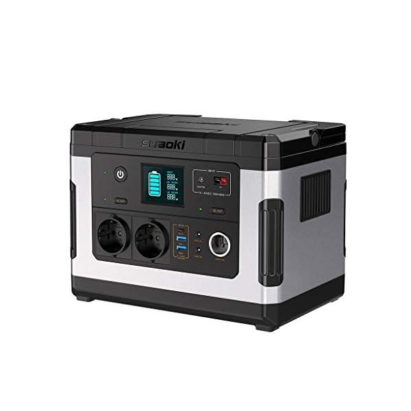 SUAOKI G500 Portable Power Station 500Wh Solargenerator Lithium-Netzteil mit Wechselrichter 300W, 12V DC, 12V Auto, USB…