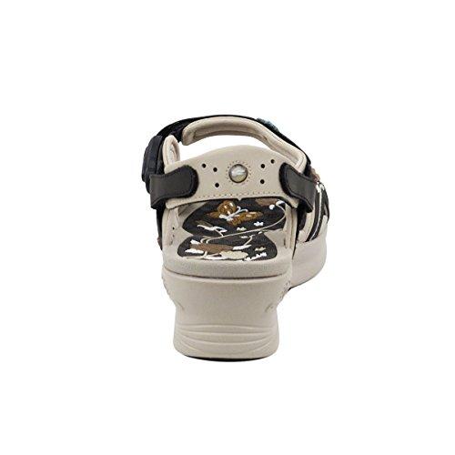 Gouden Duif Gp5974w (maat 4.5-8) Easy Magnetic Snap Sluiting Licht Gewicht Comfort Platform Sandalen (maat 4.5-8) Bruine Bloem