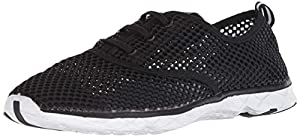 ALEADER Women's Mesh Slip On Water Shoes Black 5.5 D(M) US