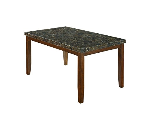 Ashley Furniture Signature Design - Lacey Dining Room Table - Rectangular - Contemporary with Faux Marble Top - Medium Brown price