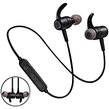 Dkaile Magnetic Wireless in-Ear Earphones, Sport Fit Design Bluetooth Earbuds Headphones, Sweatproof Headsets(Bluetooth 4.3 Super Sound Quality)