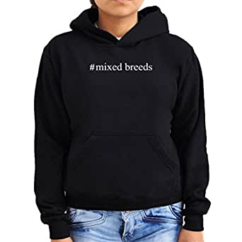 #Mixed Breeds Hashtag Women Hoodie