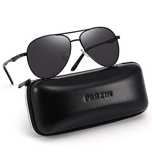 - Polarized Aviator Sunglasses for Men Women PARZIN Vintage Metal Frame Driving Beach Sunglasses 100% UV Protection PZ2870