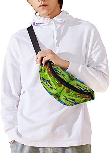 ボックスに致命的なヘビ ウエストバッグ ショルダーバッグチェストバッグ ヒップバッグ 多機能 防水 軽量 スポーツアウトドアクロスボディバッグユニセックスピクニック小旅行