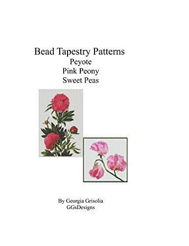 (Bead Tapestry Patterns Peyote pink peony sweet peas)