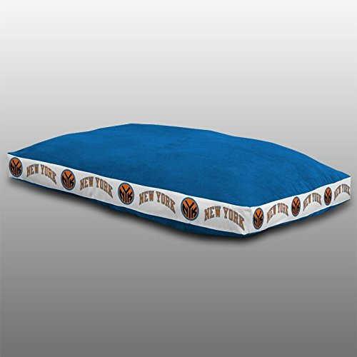 NBA New York Knicks Dog Bed, 26 x 37, Bright Blue by Sports Coverage
