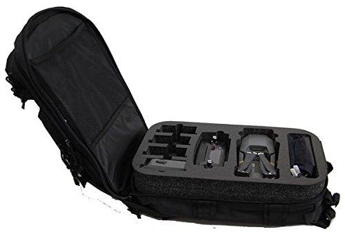Microraptor Backpack with Custom Foam Designed to Fit DJI Mavic and Accessories-(Black) by Microraptor Pro Cases