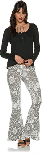 Rip Curl Junior's Painted Desert Printed Flare Soft Pant, Charcoal Grey, Large