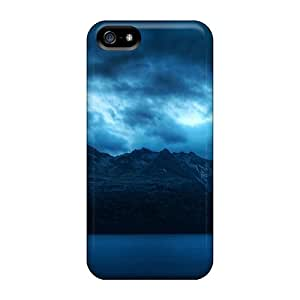 Cases Covers For Iphone 5/5s Strong Protect Cases - Cloudy Mountains Design