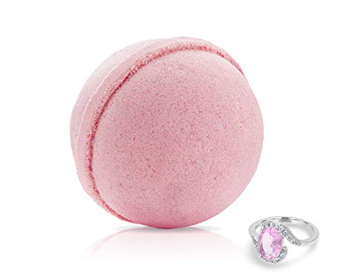 Fragrant Jewels Bed of Roses Bath Bomb with Collectible Ring (Size 5-10)