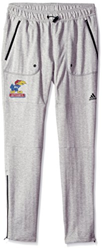 Kansas Jayhawks Coaches - NCAA Kansas Jayhawks Adult Men Phys Ed Coach French Terry Jogger, Medium, Medium Grey Heather