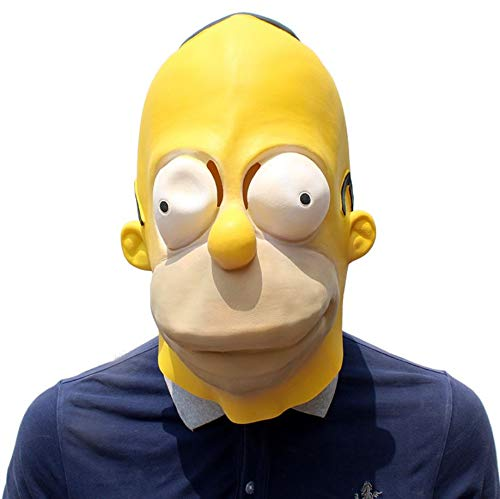 Simpson mask Halloween Latex Head mask Film Prop mask.Free Size. -