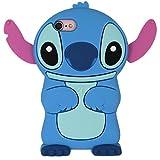iPhone SE Case, MC Fashion American Cartoon Cute 3D Stitch Protective Silicone Phone Case for iPhone 5/5S/SE (Stitch)