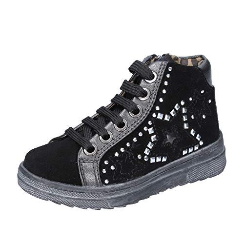DIDI BLU Fashion-Sneakers Baby-Girls Suede Black 8 US